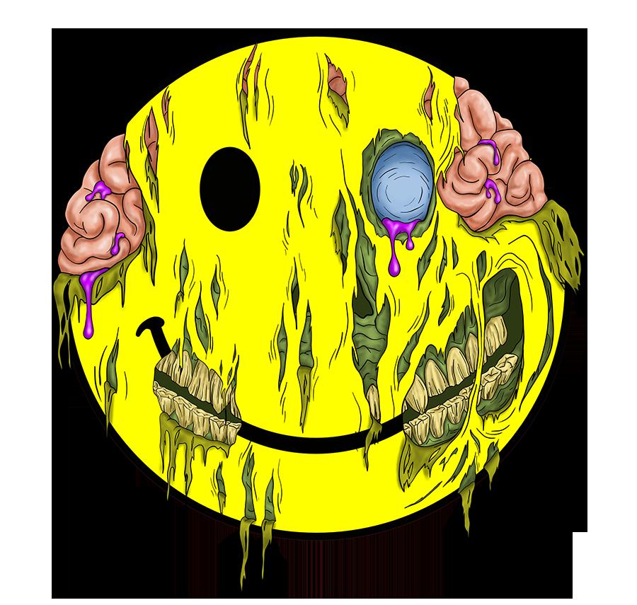 Happy Zombie Face sm