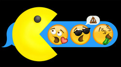 Pacman Eating Emoticons