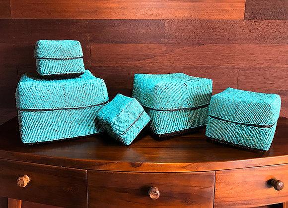 Set de 5 Boîtes à Offrandes Turquoises