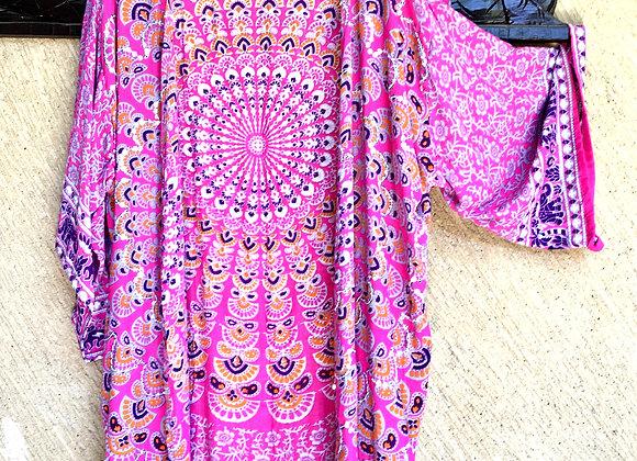 Kimono Rose Indien avec Mandala