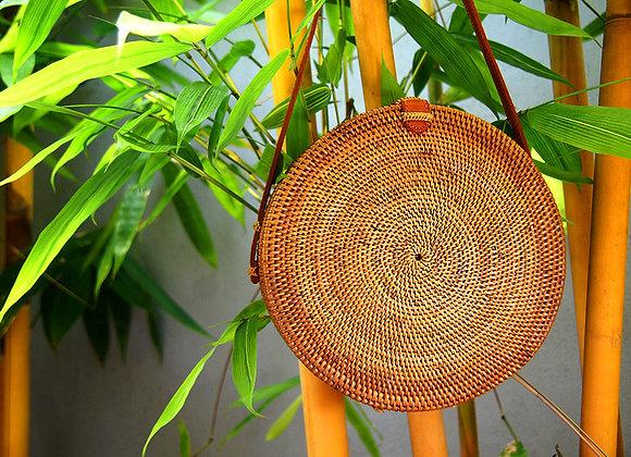 Sac Rond Naturel en Bambou 25cm