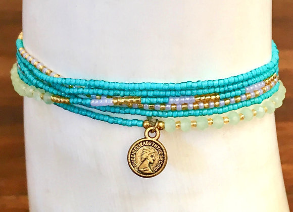Bracelet Multi-Tours Fin Turquoise