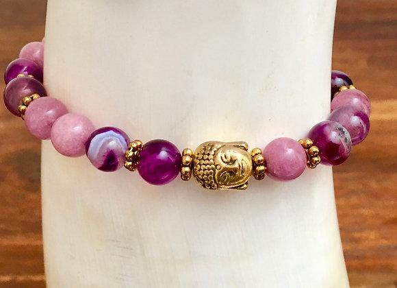 Bracelet Mala Lavande & Violet