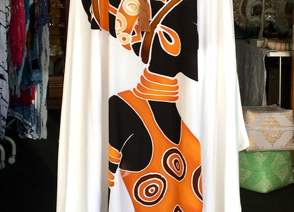 Longue Robe Blanche Africa