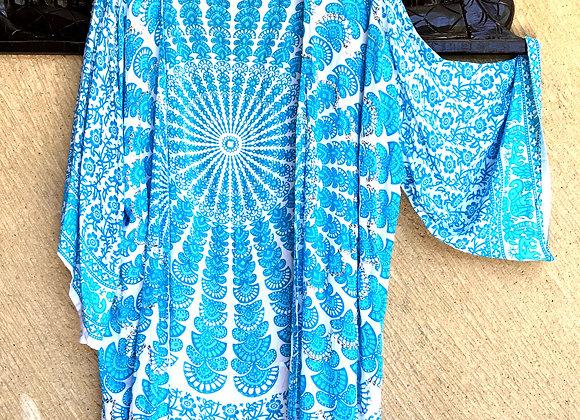 Kimono Bleu Ciel avec Mandala