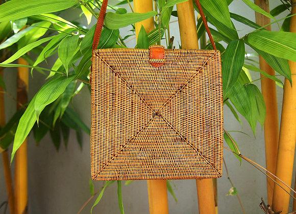 Sac Carré Naturel en Bambou 20cm