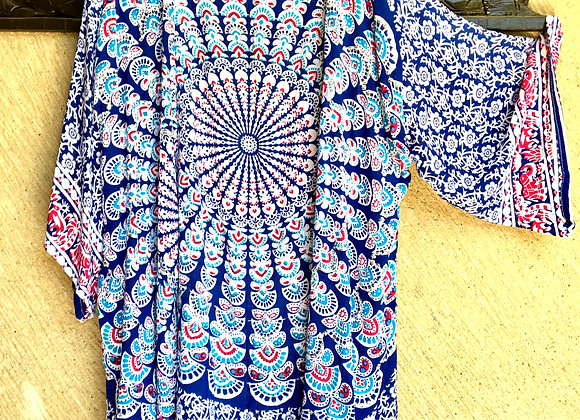 Kimono Bleu & Ciel avec Mandala