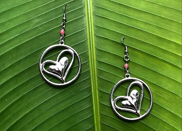 Boucles d'Oreilles Double Coeur