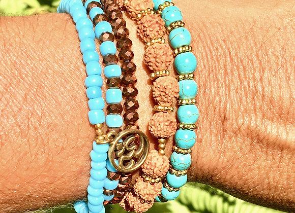 Bracelet Multi-Tours Turquoise