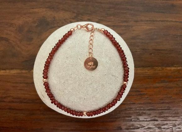 Bracelet Grenat Rouge