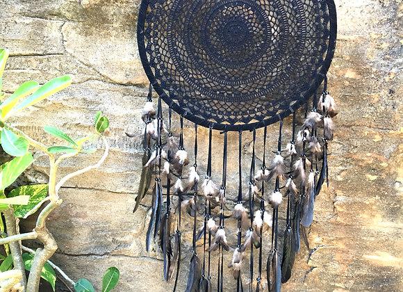 Attrape-Rêves à Plumes Noires 52cm