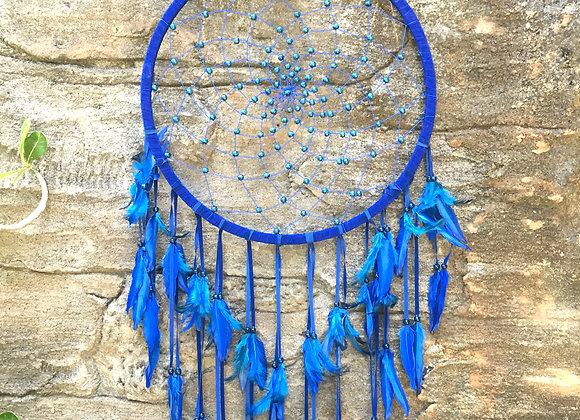Attrape-Rêves Spider Web Bleu 42cm
