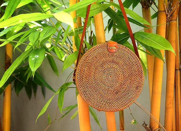 Sac Rond Naturel en Bambou 20cm