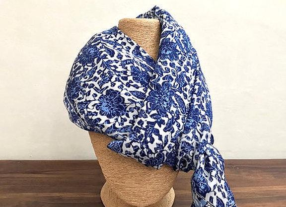 Foulard Sarong Bleu