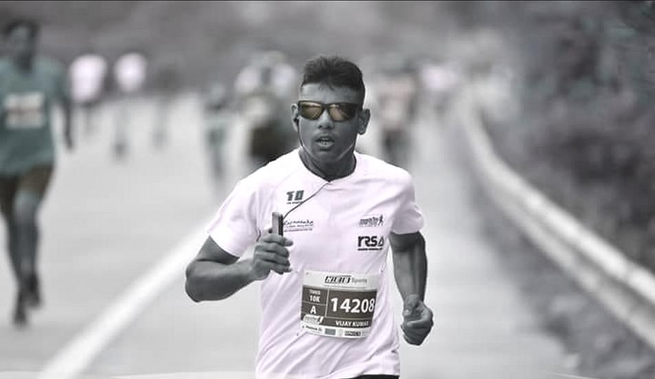 Myself running in 10K marathon