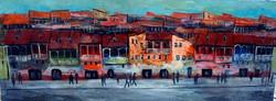 Картина Город 80x25