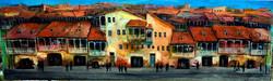 Картина Город 100x35