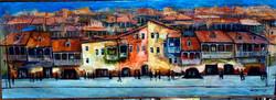 Картина Город 100x40