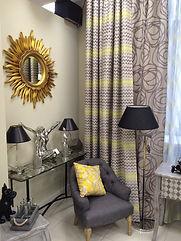 Шторы итальянские, ткань с цветами, шторы с цветами