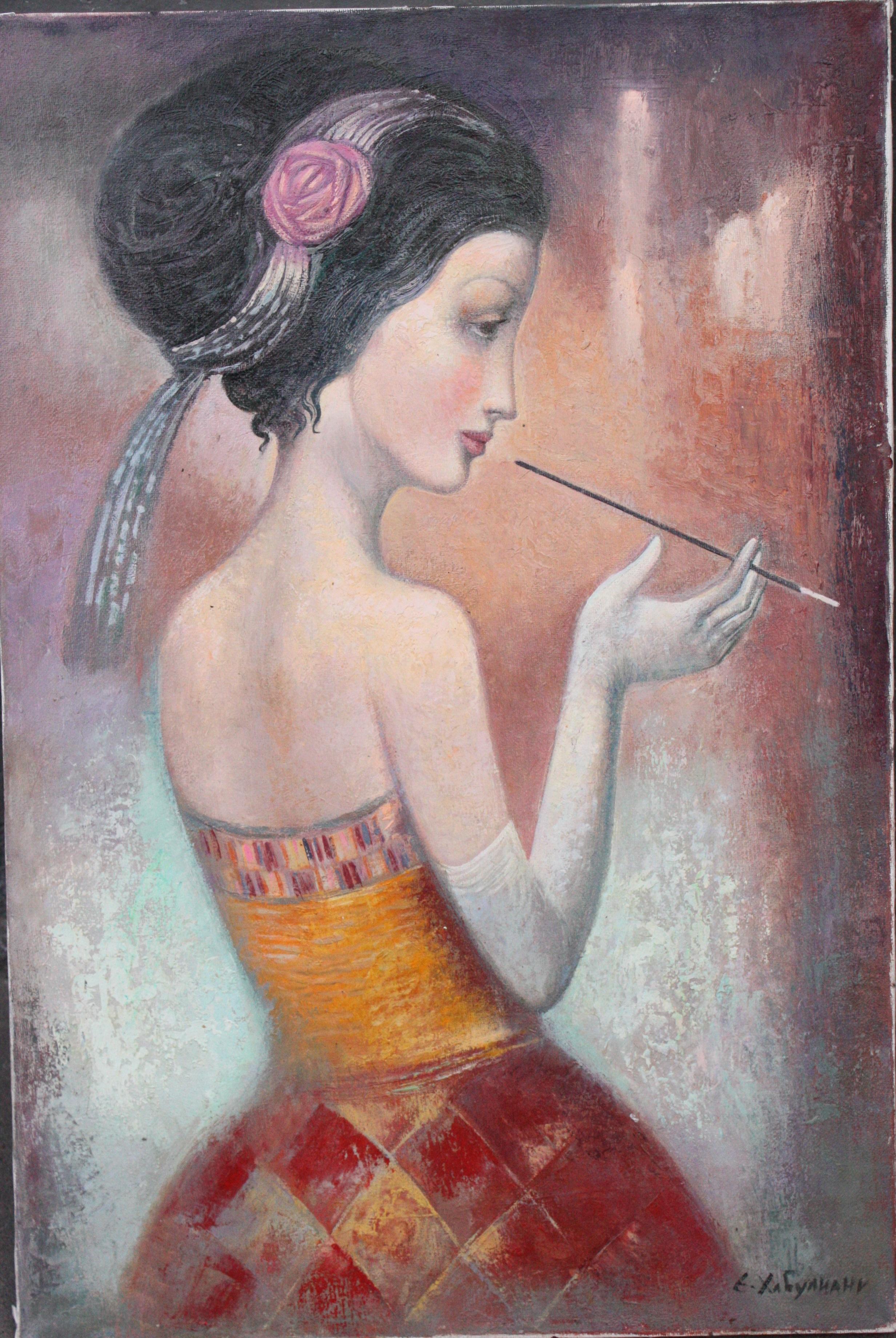 Картина Девушка с мундштуком