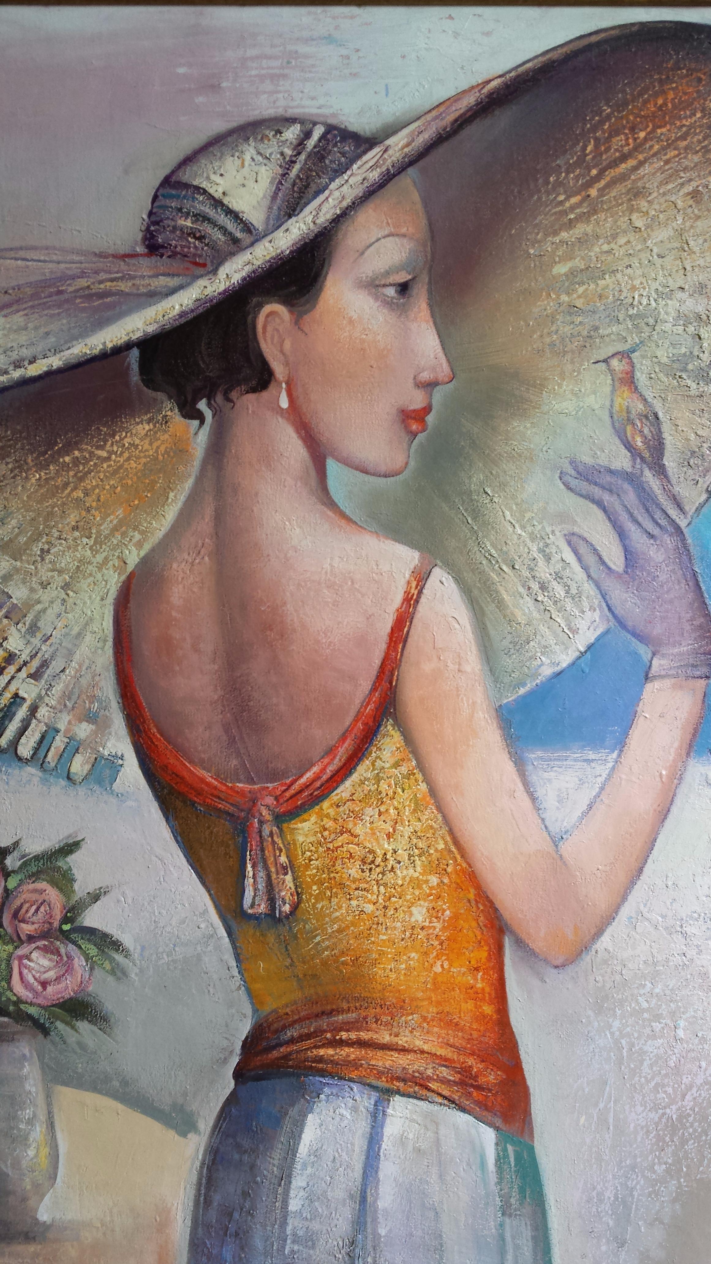 Картина Женщина с птичкой