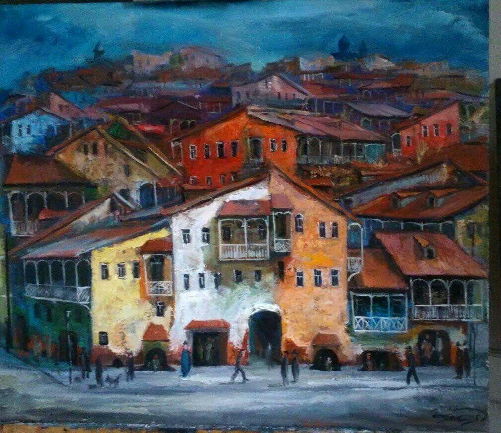 Картина Город 60х70