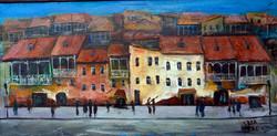 Картина Город 60x25