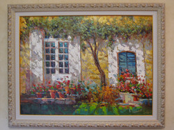Картина Цветы на окне 60х80