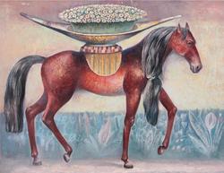 Картина Лошадь с цветами