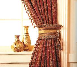 Шторы, подхваты для штор, классические шторы, красные шторы