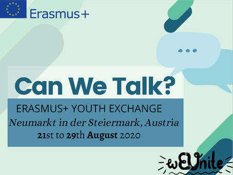 Can We Talk? Erasmus + Youth Exchange