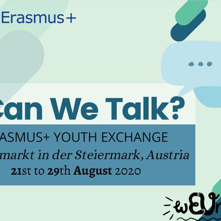 Can We Talk? Erasmus + Youth Exchange