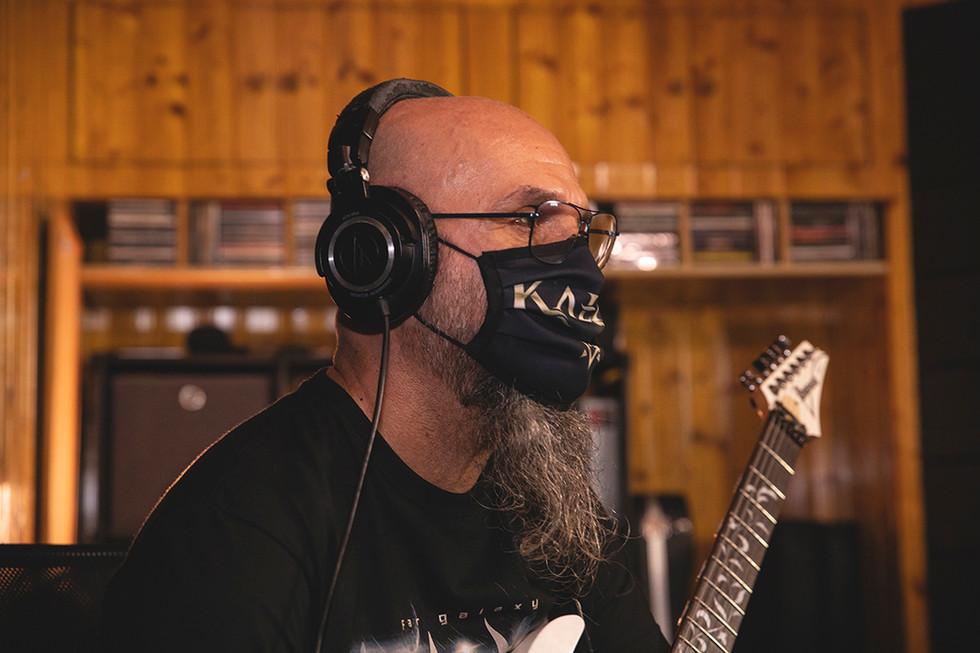 Carlos (lead guitars) Recording at Jotun Studio