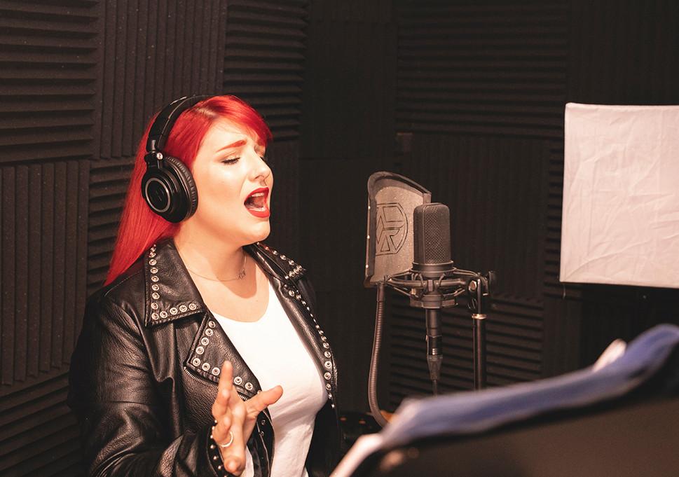 Bethany (lead vocals) Recording at Jotun Studio