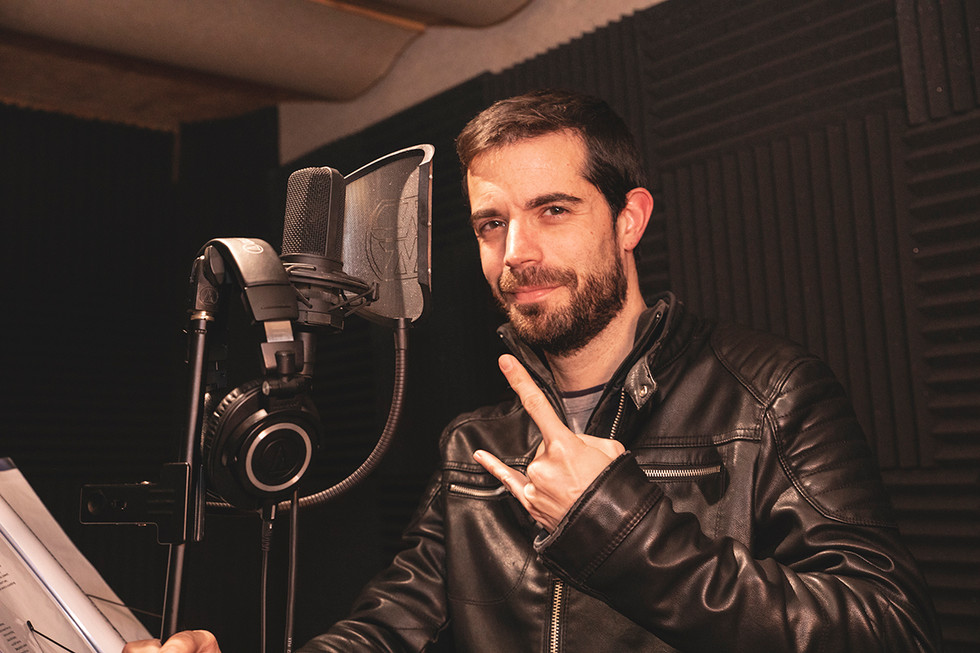 Álvaro (guitars, vocals & gutturals) Recording at Jotun Studio