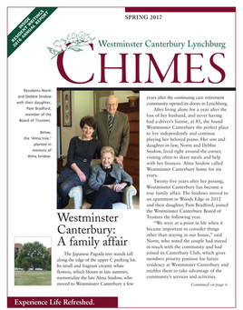 Newsletter: Westminster Canterbury
