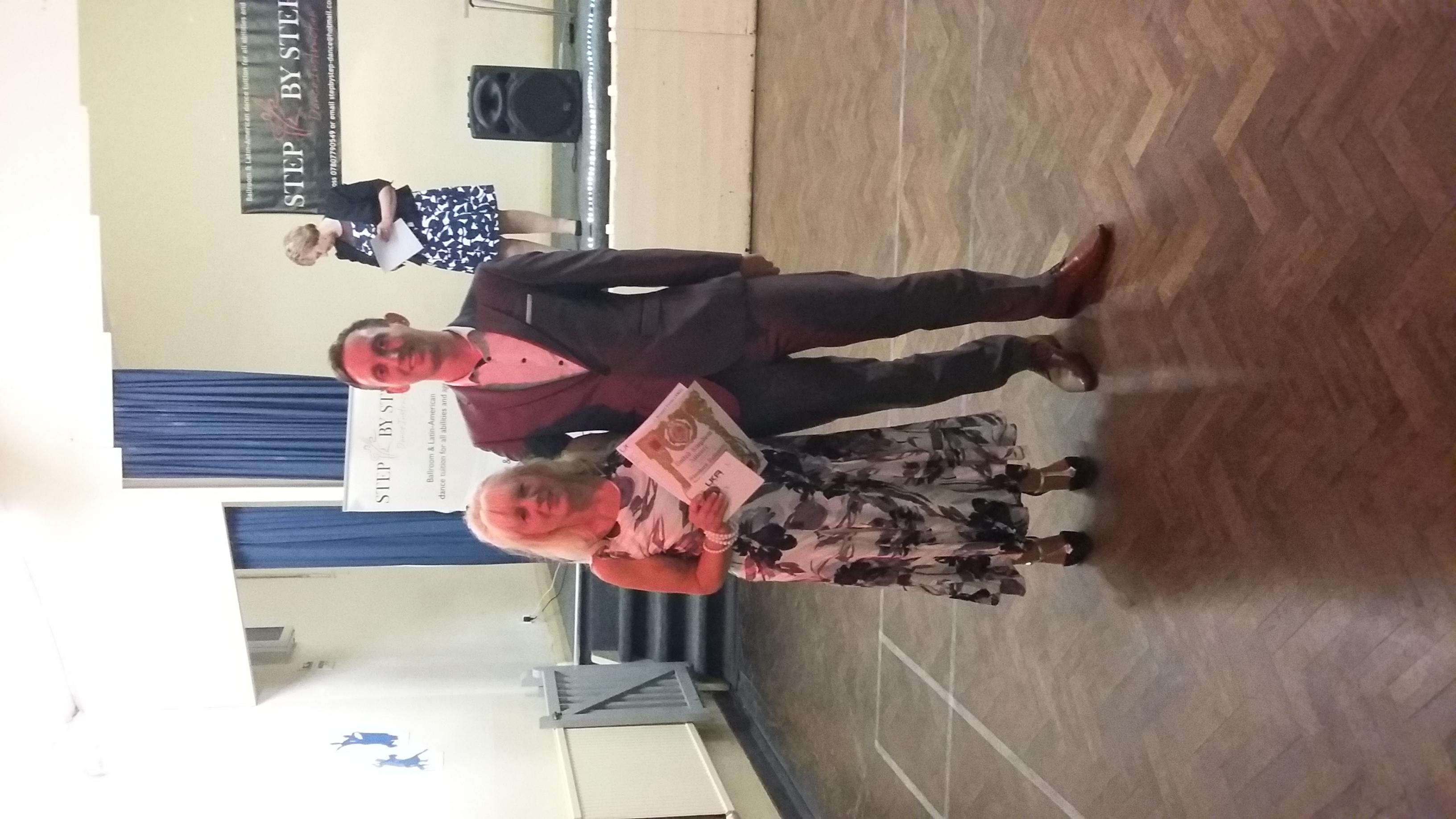 Sue receiving her Bronze award