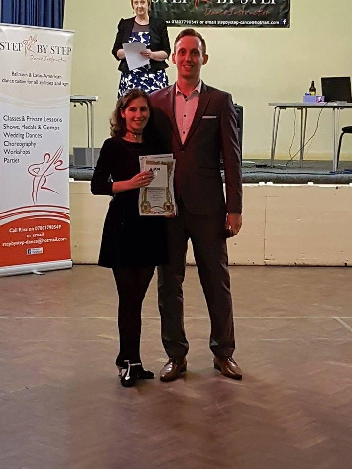 Julia receiving her Bronze award