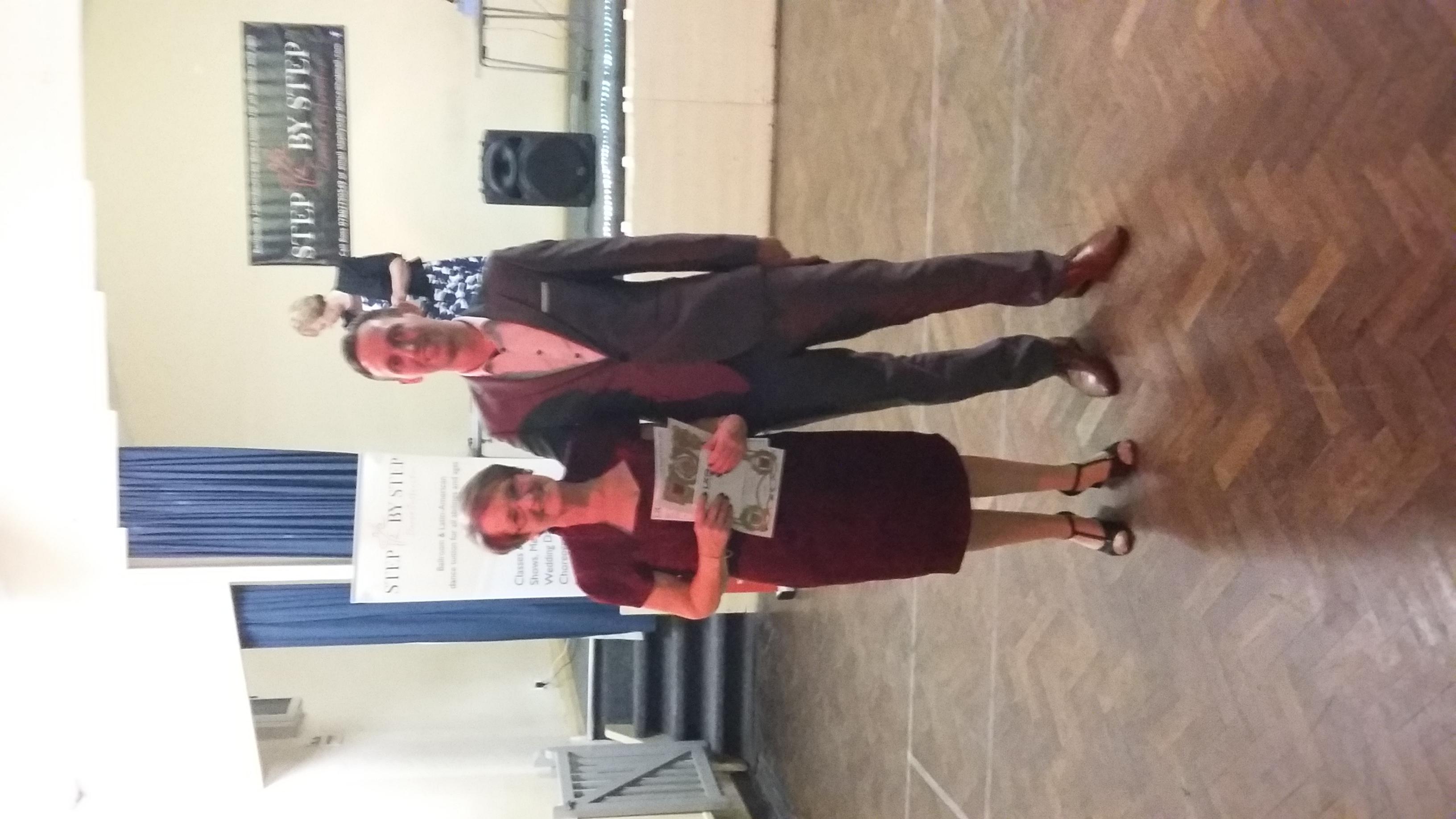 Averil receiving her Bronze award