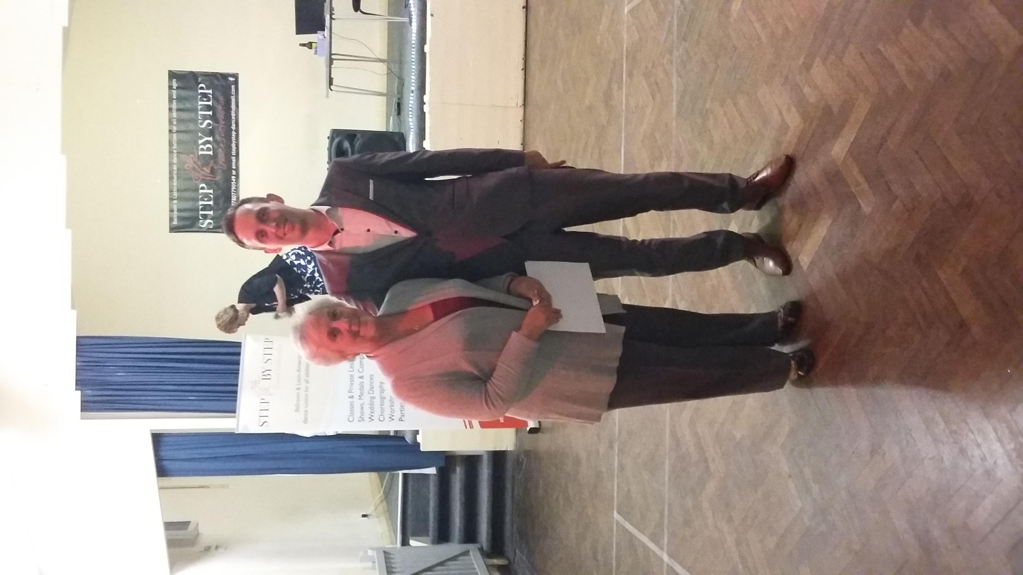 Carolyn receiving her Bronze award