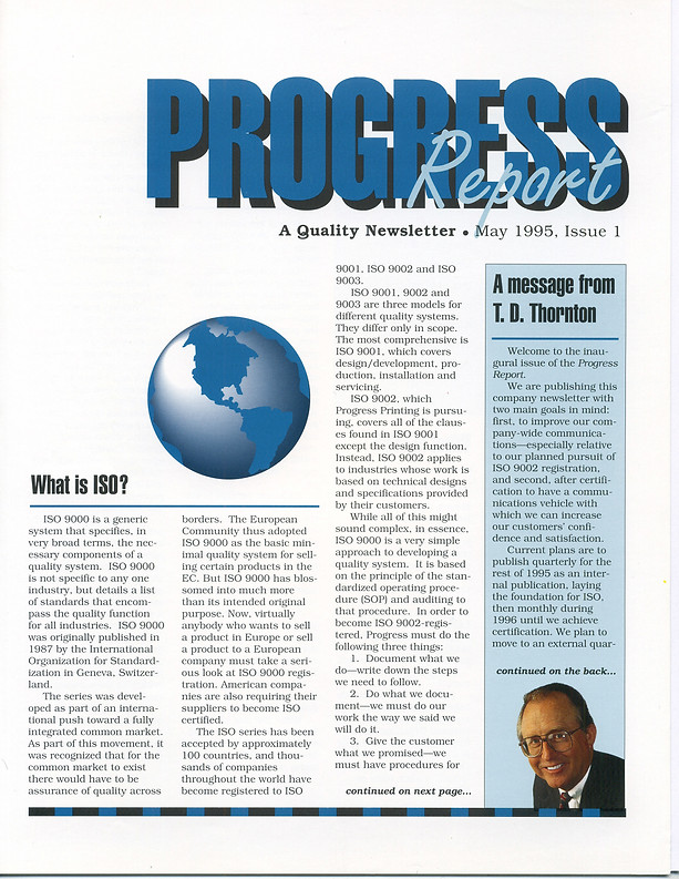 Newsletter: Progress Printing