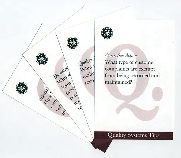 ISO 9001 Q&A Cards: GE Drive Systems