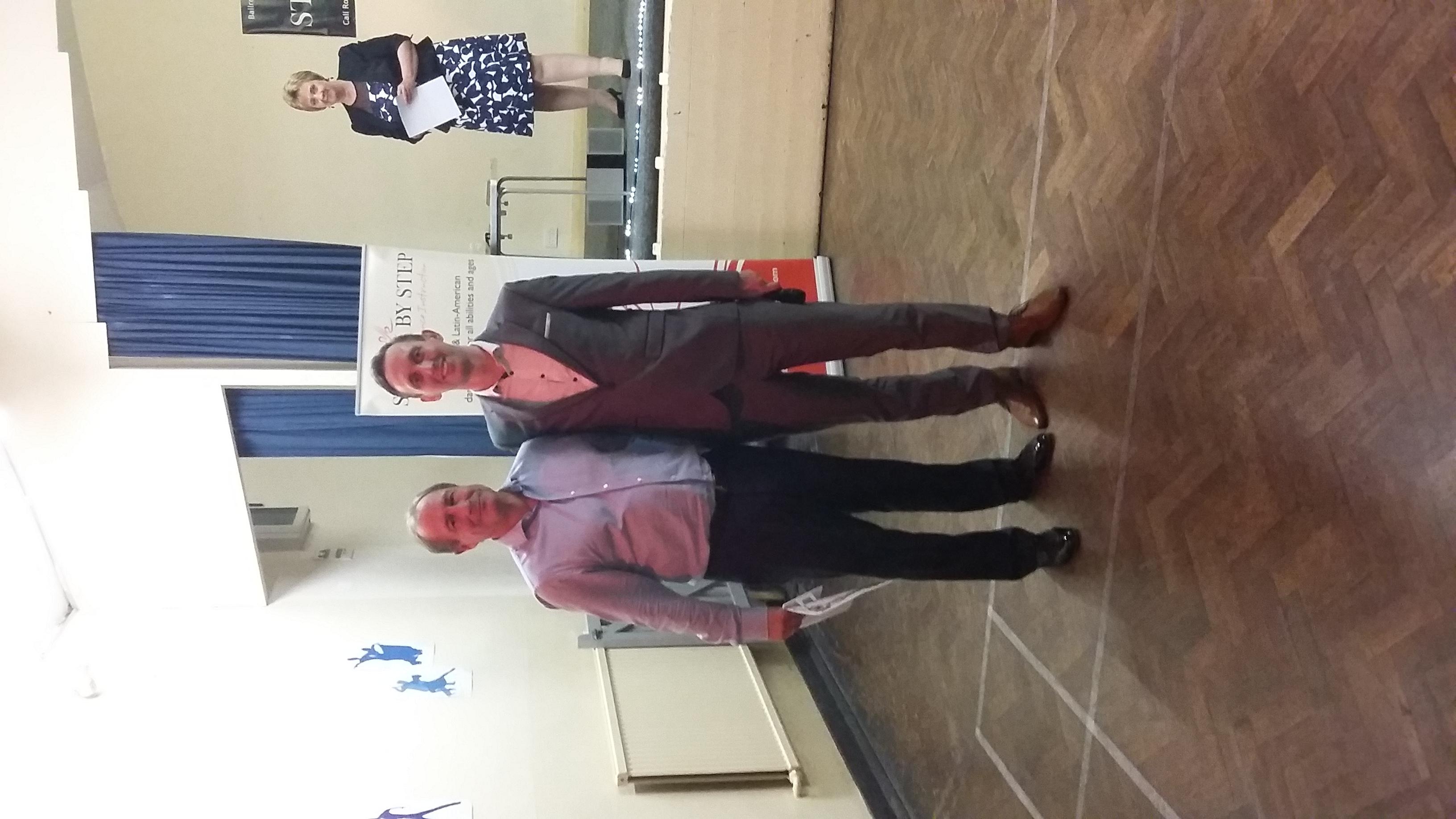 Keith receiving his Bronze award