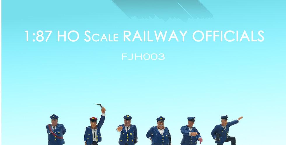 1/87 HO Scale Model Figure set railway officials,方寸景模型人,铁路工人模型,model railway/railroad/train layouts and scenes