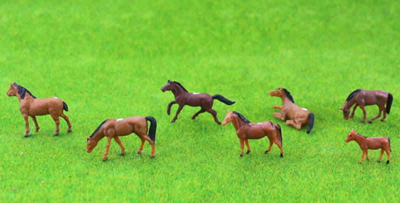 100PCS HO/N Scale Model Horses  farm animal