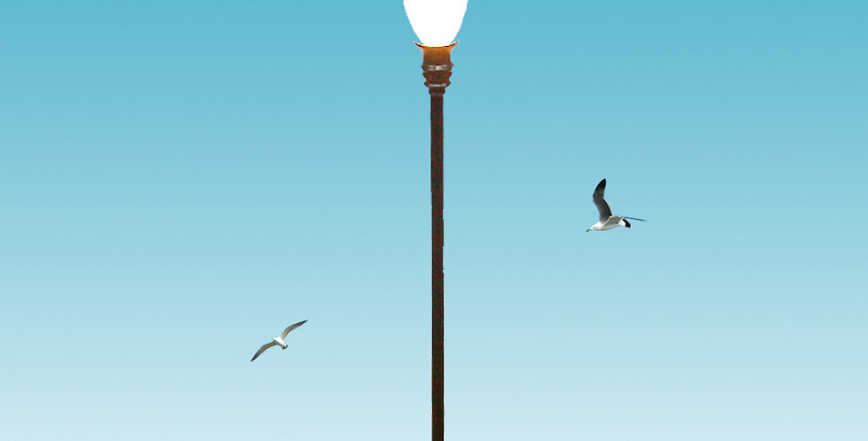 HO Scale model yard lamp posts