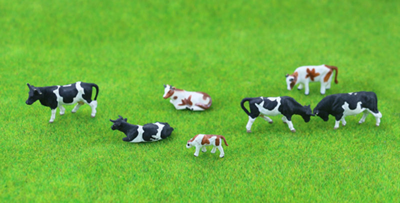 100PCS HO/N Scale Model Cows  farm animal