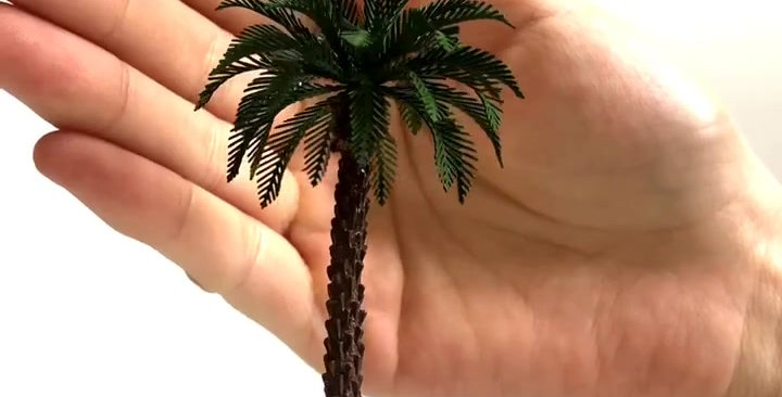 """3/pkg Brass Etched Model Palm trees 3.94"""" (100mm) in height TY010100"""
