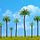 Multi-height coconut model trees, DIY/Miniature Scene materials