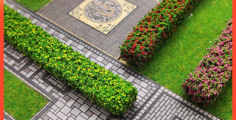 2PCS Shrub Strips Green Sand Table Miniature Model Simulation DIY Materials